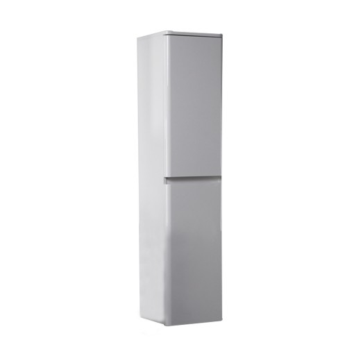 Eviva Glazzy Glossy White 16 inch wall mount side cabinet