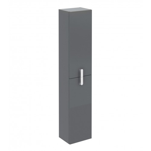 "Eviva Cali 12"" Grey Modern Bathroom Linen Side Cabinet"