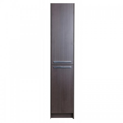 "Eviva Lugano 16"" Grey-OakModern Bathroom Linen Side Cabinet Storage"