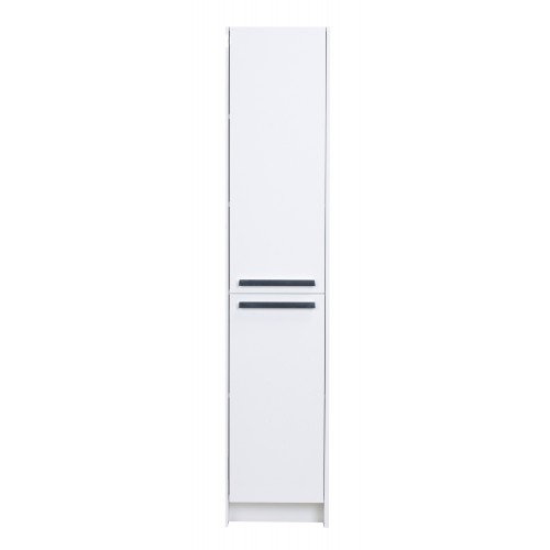 "Eviva Lugano 16"" White Modern Bathroom Linen Side Cabinet Storage"