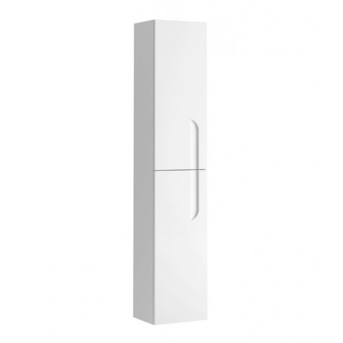 "Eviva Vitta 12"" White Modern Bathroom Linen Side Cabinet"