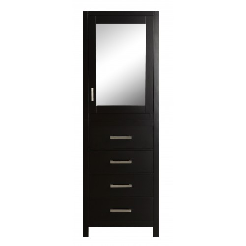 "Eviva New York? 24"" Espresso Side/Linen Bathroom Cabinet Storage"