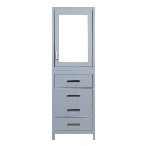 "Eviva New York? 24"" Grey Side/Linen Bathroom Cabinet Storage"