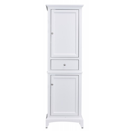 "Eviva Elite Stamford? 24"" White Solid Wood Side/Linen Bathroom Cabinet"