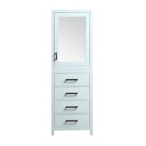 "Eviva New York? 24"" White Side/Linen Bathroom Cabinet Storage"