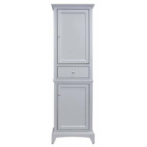 "Eviva Elite Stamford? 24"" Grey Solid Wood Side/Linen Bathroom Cabinet"