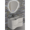 """Eviva Touch 36"""" White Wall Mount Modern Bathroom Vanity with White Integrated Acrylic Sink"""