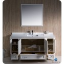 """Fresca FVN20-123612AW Oxford 60"""" Traditional Bathroom Vanity with 2 Side Cabinets in Antique White"""