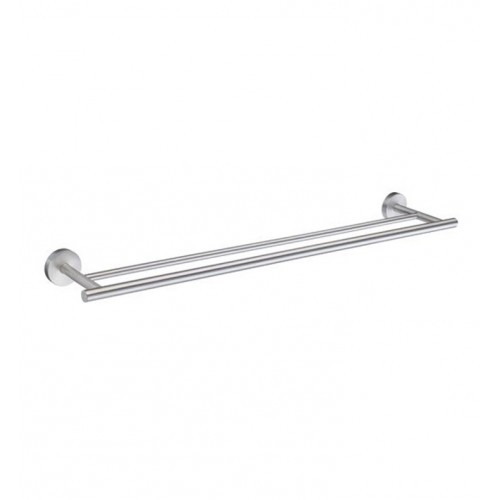 Smedbo HS3364 Home Towel Rail Double in Brushed Chrome