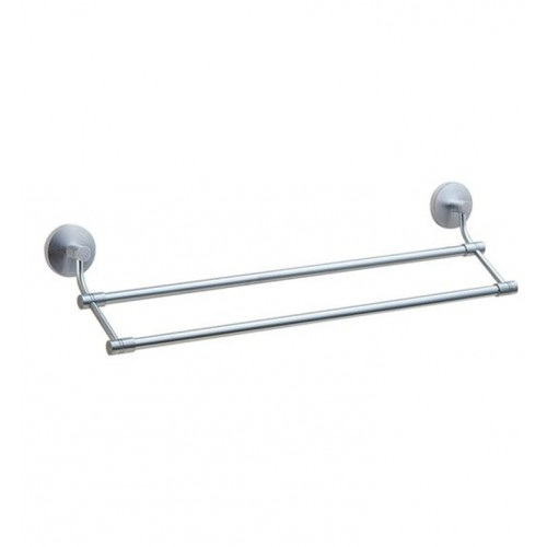 Smedbo NS3364 Studio Towel Rail Double in Brushed Chrome