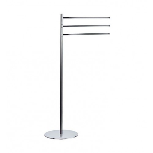 Smedbo FK303 Outline Towel Rail Free Standing in Polished Chrome