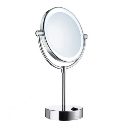 Smedbo FK474 Shaving and Make-up Mirror With light