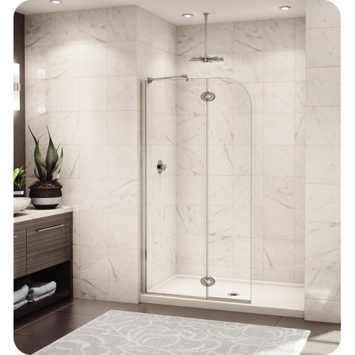 Fleurco V56301 Evolution Monaco 5' Walk in Shower Shield with Round Top