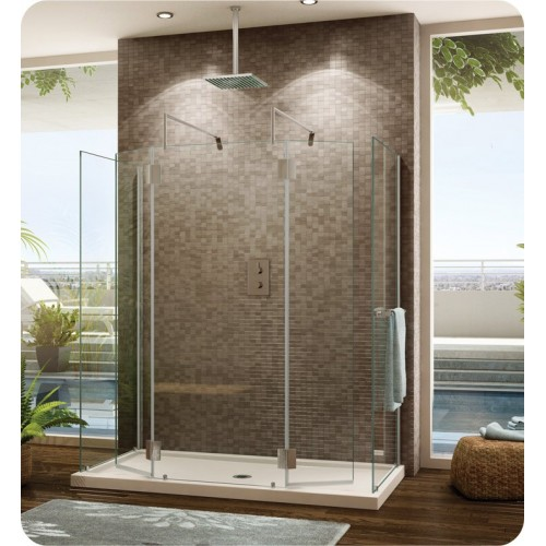 Fleurco V6308 Evolution 6' Walk in Round Top Shower Enclosure with 2 Side Glass Panels V6308