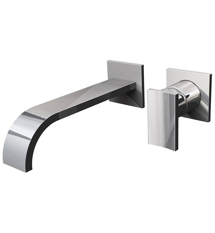 Double Handle Wall Mount Tub Faucet