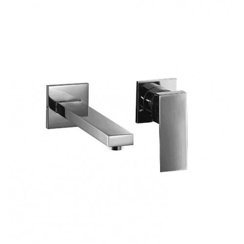 ALFI brand AB1468-BN Brushed Nickel Single Lever Wallmount Bathroom Faucet