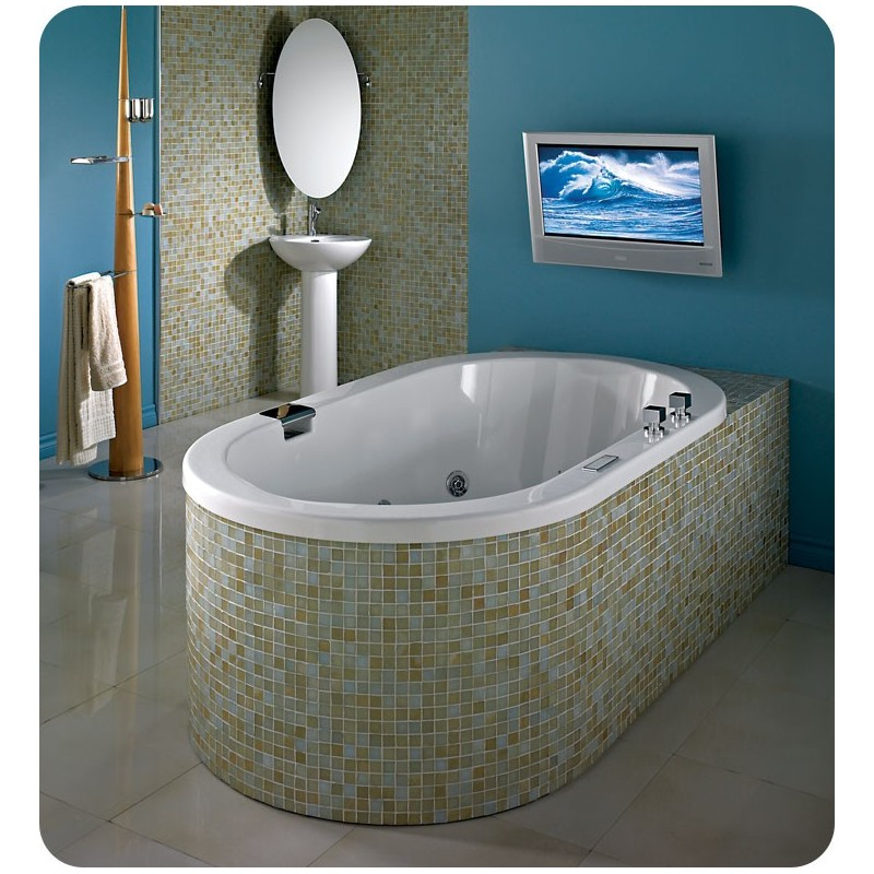 "Neptune TAO3672 Tao 72"" x 36"" Customizable Oval Bathroom Tub"