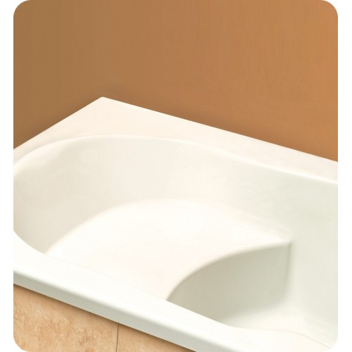 "Neptune EV60 Eva 60"" Customizable Rectangular Bathroom Tub with Integrated Seat"