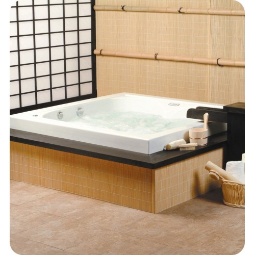 Neptune TO60 Tokyo Customizable Square Bathroom Tub