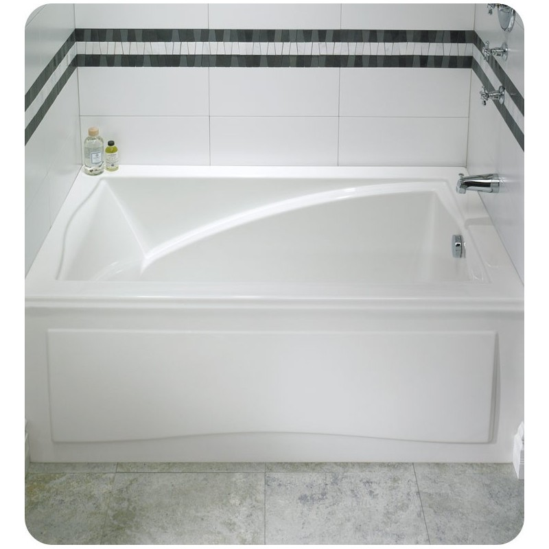 "Neptune DJ3260 Delight 60"" x 32"" Customizable Rectangular Bathroom Tub with Integral Skirt"