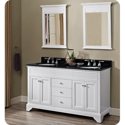 Fairmont Designs 1502-V6021D Framingham 60 inch Double Bowl Vanity in Polar White