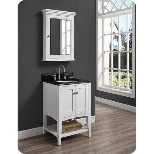 Fairmont Designs 1512-VH24 Shaker Americana 24 inch Open Shelf Vanity in Polar White