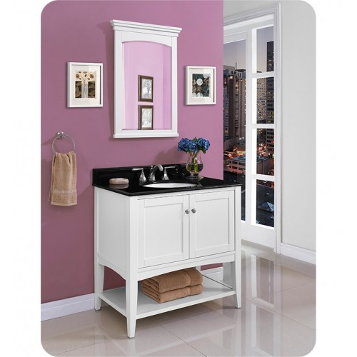 Fairmont Designs 1512-VH36 Shaker Americana 36 inch Open Shelf Vanity in Polar White