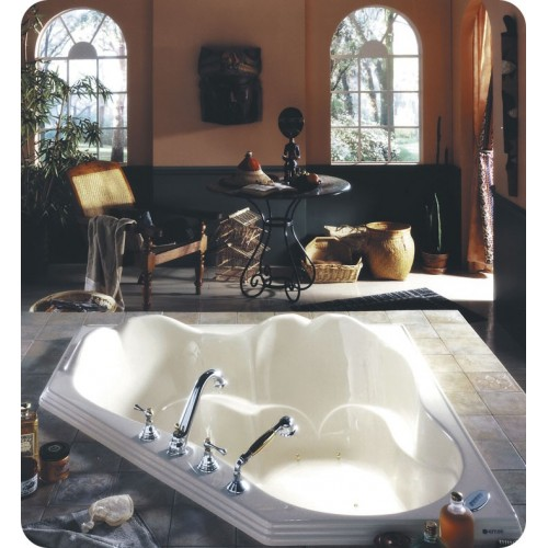 "Neptune OR54 Orphee 54"" Customizable Corner Bathroom Tub"
