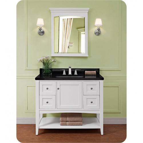 Fairmont Designs 1512-VH42 Shaker Americana 42 inch Open Shelf Vanity in Polar White