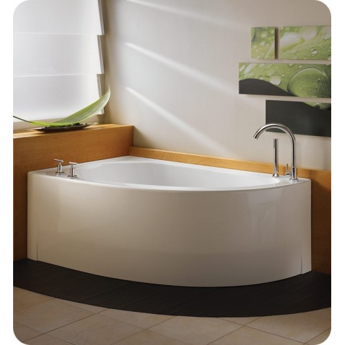 "Neptune WI60 Wind 60"" Customizable Corner Bathroom Tub"