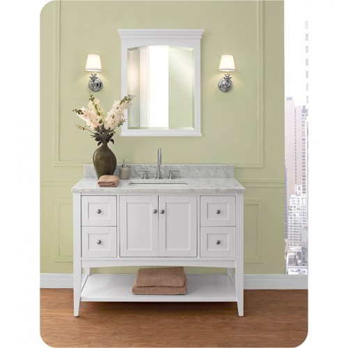 Fairmont Designs 1512-VH48 Shaker Americana 48 inch Open Shelf Vanity in Polar White
