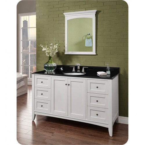 Fairmont Designs 1512-V60 Shaker Americana 60 inch Single Bowl Vanity in Polar White