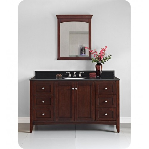 "Fairmont Designs 1513-V60 Shaker Americana 60"" Bathroom Vanity in Habana Cherry"