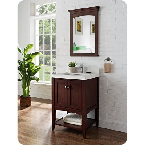 Fairmont Designs 1513-VH24 Shaker Americana 24 inch Open Shelf Vanity in Habana Cherry