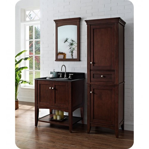 Fairmont Designs 1513-VH30 Shaker Americana 30 inch Open Shelf Vanity in Habana Cherry