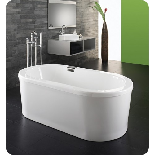 "Neptune RU3672 Ruby 72"" x 36"" Freestanding Customizable Oval Bathroom Tub"