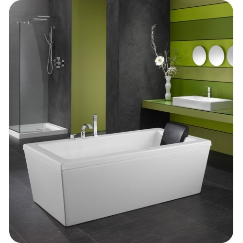 "Neptune AM3260 Ametys 60"" x 32"" Customizable Rectangular Freestanding Bathroom Tub"