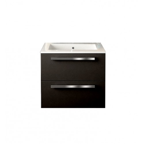LaToscana AM24OPT1 Ambra 24 inch Modern Bathroom Vanity with 2 Slow Close Drawers, Flat Face, Chrome Handles and Tekorlux Sink T