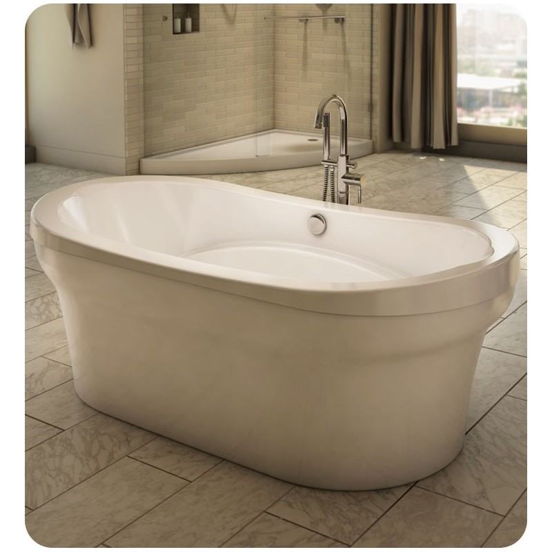 "Neptune REV3672F Revelation 72"" x 36"" Customizable Oval Freestanding Bathroom Tub"