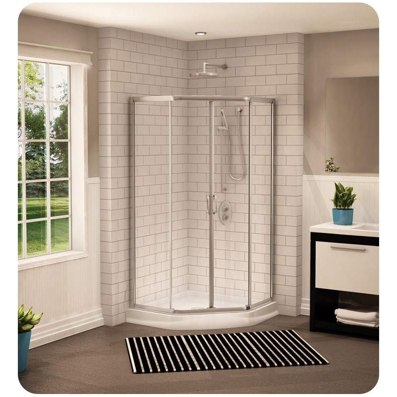 "Fleurco FAN36 Signature Capri 36"" Neo Angle Sliding Shower Doors"