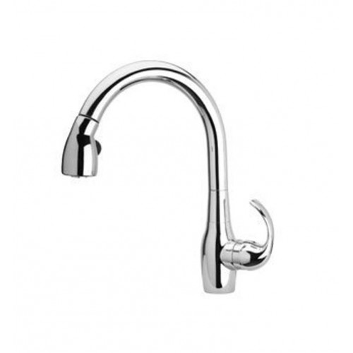 LaToscana TCCACR591 Petrarca Kitchen Faucet with High Arc Pull Down Swivel Spout and Metal Lever Handle
