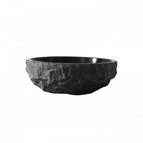 Adonia Natural Stone Bathroom Vessel Sink in Shanxi Black Granite