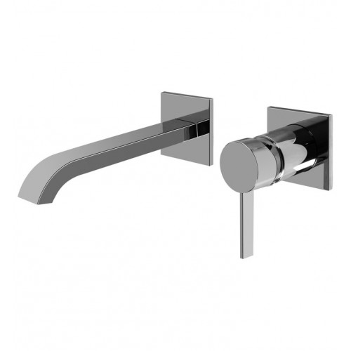 """Graff G-6235-LM39W Qubic Tre L 8"""" Wall Mounted Lavatory Faucet with Single Handle"""