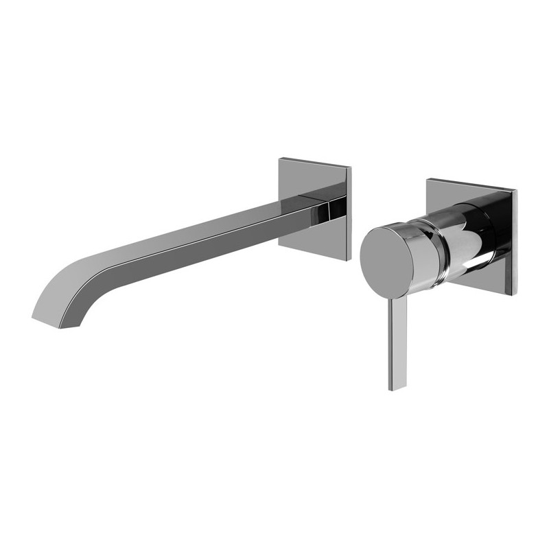 """Graff G-6236-LM39W Qubic Tre L 9 3/4"""" Wall Mounted Lavatory Faucet with Single Handle"""