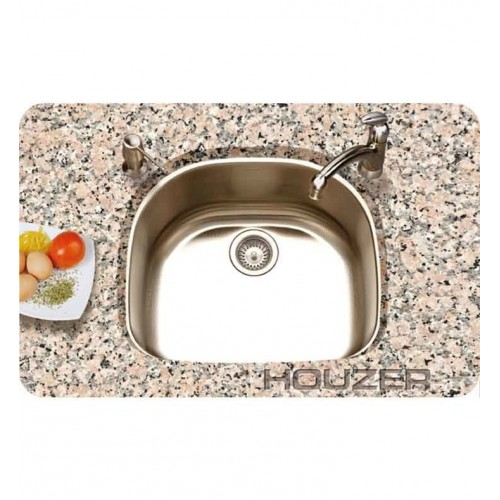 Houzer PNG-2400-1 Undermount Single Bowl  sc 1 st  fabulousmorning & D-Shaped Kitchen Sinks - fabulousmorning