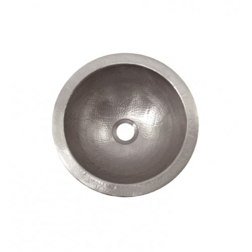 Houzer HW-BAB2RF Undermount Hand Hammered Copper Bathroom Sink in Pewter Finish