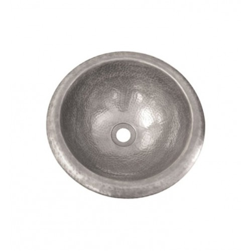 Houzer HW-BAB2RS Self Rimming Hand Hammered Copper Bathroom Sink in Pewter Finish