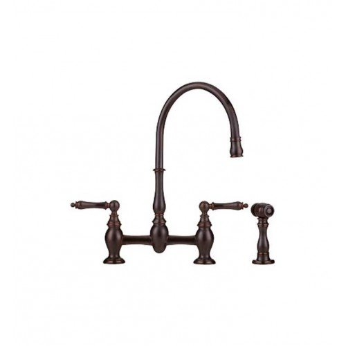 Franke FF6060a Bridge High Arch Kitchen Faucet with Side Spray