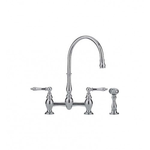 Franke FF6070a Bridge High Arch Kitchen Faucet with Side Spray