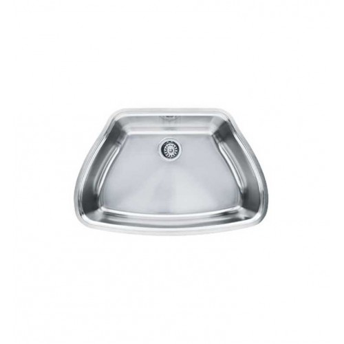 Franke CQX11029 Centennial Single Basin Undermount Stainless Steel Kitchen Sink with FREE Bottom Grid and Shelf Grid